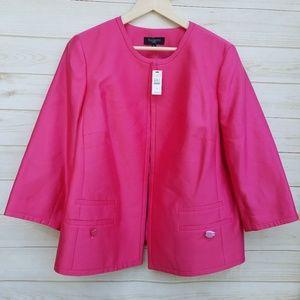 NWT Talbots silk blend blazer 16W 3/4 slv pink